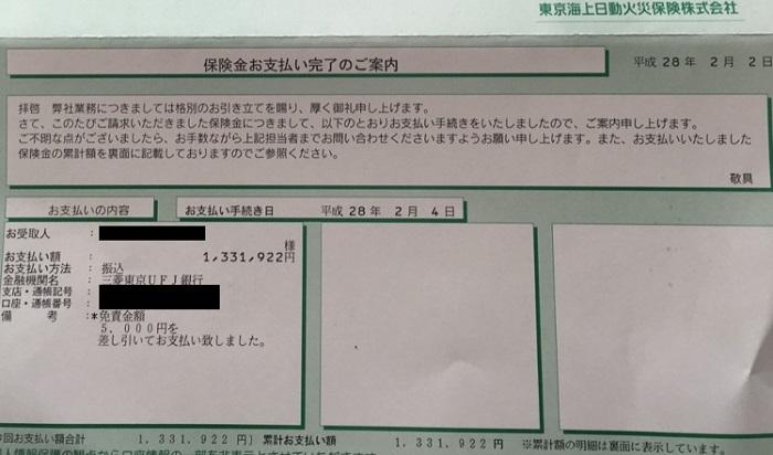 火災保険保険金事例