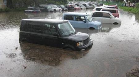 駐車場経営洪水