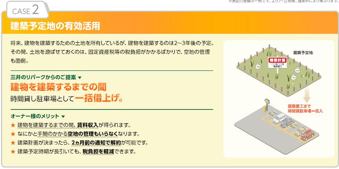 三井のリパーク事例