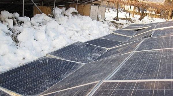 太陽光発電積雪リスク